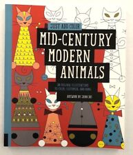 Just Add Color Mid-Century Modern Animals - Coloring Book