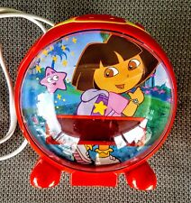 Dora the Explorer Digital Alarm Clock AM FM Radio Night Light Snooze Sleep WORKS
