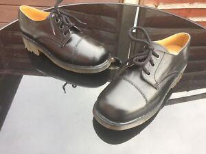 Dr Martens black leather shoes UK 6 EU 39  Made in England