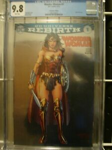 CGC 9.8 WONDER WOMAN #1 (REBIRTH) SILVER FOIL CONVENTION EDITION BY JIM LEE