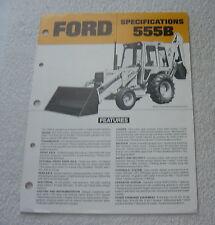 FORD TRACTOR 555B LOADER BACKHOE c 1980s SALES BROCHURE
