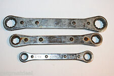 SNAP-ON TOOLS RATCHETING BOX 12/6 POINT 0° Offset WRENCH SET 3pc