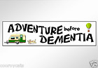 funny bumper sticker adventure before dementia car decal for gray nomads 220 mm