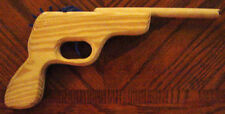Rubber Band Gun Semi-Auto Wood Pistol, Toy