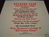 ROSANNA CASH RC5 COLLECTORS CD DJ PROMO 1993 RARE