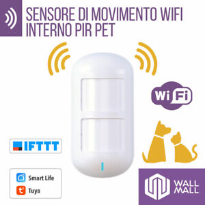 SENSORE DI MOVIMENTO PIR PET ANIMALI ANTIFURTO WiFi TUYA GOOGLE HOME ALEXA IFTTT
