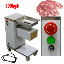 Commercial Stainless Steel Beef Fresh Meat Cutting Machine Meat Slicer 110V 3mm