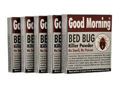 Good Morning Bed Bug Killer Powder (Pack of 5) no poison