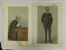 ANTIQUE VANITY FAIR CARICATURE PRINTS BY SPY 'PUBLIC PROSECUTIONS' AND 'BOSEY'