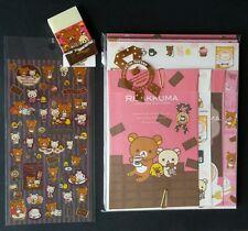 San-x Rilakkuma Chocolate and Coffee Kawaii Letter Set Stickers Stationery LOT