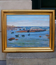 Mogens Ege (1892) Colony of Common Guillemot. Bornholm island. 1920s.