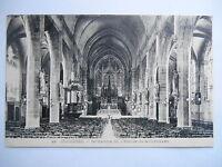"""CPA """"Fougères - Intérieur de l'église Saint Léonard"""""""