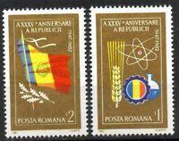 RUMANIA / ROMANIA año 1982 yvert nr. 3416/17 nueva XXXV aniversario de la repúbl