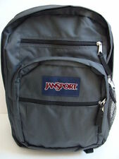 NWT JANSPORT Big Student Backpack Book Bag Gray Boys Girls School Pack Sack NEW