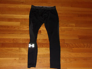 UNDER ARMOUR BLACK COMPRESSION TIGHTS BOYS YOUTH LARGE EXCELLENT CONDITION