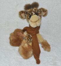 "Girafe ""Sophie"" peluche de collection Bobby Baer en mohair et fourrure 48 cm"