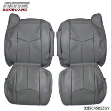 4pcs Leather Seat Cover Kit For 2003 2006 Chevy Tahoe Suburban Silveradogmc