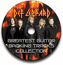 30 DEF LEPPARD HEAVY ROCK STYLE GUITAR MP3 BACKING TRACKS CD ANTHOLOGY LIBRARY