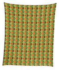 "Lucky Orange Shamrock Argyle Mircofleece Throw Blanket 50""x60"""