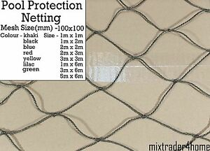 Pond Cover Netting 2mm Cord Net Pool Protection Safety Guard Protector Leaves