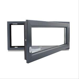 Finestre in PVC Colore ANTRACITE Aluplast IDEAL 4000 Misura: 650 x 800