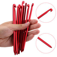 Aluminum Alloy 10x/set 16cm Outdoor Camping Trip Tent Peg Ground Nail Stakes JA