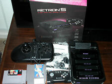 Used Retron 5 with games and SEGA arcade stick