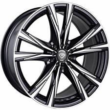 4 ~ 17x7.5 White Diamond WD-2750  5x105/110 Black Machined Custom Wheels +35mm