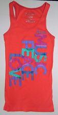 Aeropostale Stretch Tank Top T-Shirt, MUSIC PEACE LOVE, Womens JR MEDIUM,  #D10