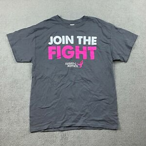 Gildan Cotton Adults Short Sleeve T-Shirt Large Join The Fight Breast Cancer L