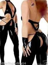 SEXY WETLOOK CATSUIT 38 / 40 LATEX LACK LEDER-STYLE DOMINA GOGO FETISCH
