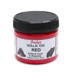 Angelus Brand Walk on Red Restorer Paint Shoe Bottom Repair Coat Soles 2oz