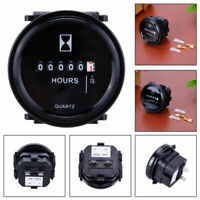 "12v 24v 36v Hour Meter for Marine Boat Engine 2"" Round Waterproof Gauge Tool US"