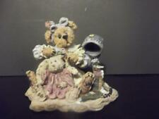 "Boyds Bears & Friends Bearstone ""A Little Off The Top"" Wanda & Gurt Figurine Euc"