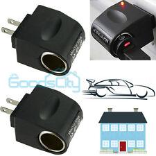 2X90V-240V AC Wall Plug to 12V Car Charger Cigar Lighter DC Power Converter Home