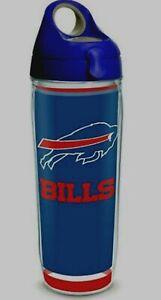 NFL BUFFALO BILLS TOUCHDOWN WRAP TERVIS 24 OZ. WATER BOTTLE W/LID-NEW W/TAG!