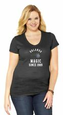 NBA Orlando Magic Womens Plus Size Triblend V-Neck T-Shirt, Black 2X New