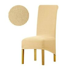 Leorate Large Size Dining Room Hotel Fleece Fabric Stretch Chair Cover Champagne