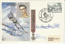 HASP2 Baron WILLY COPPENS cover signed BELGIAN WWI Ace COLONEL BARON COPPENS MC