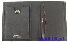 Leather Wallet Bifold Brown Credit Card ID Organizer Big Midget English Morocco
