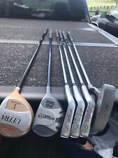 """YOUTH GOLF SET-WILSON ULTRA-DRIVER,5,7,9 IRONS,PUTTER,PLUS 3 WOOD-58>62"""" PLAYER"""