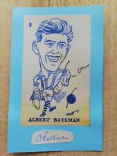 More details for albert bateman huddersfield town legend hand-signed photocard