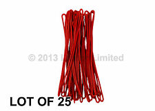 """Luggage Tag Loops Red 6"""" Worms 25 pcs Attachments Flexible #LTL01-RED-25#"""