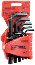 New Craftsman 11-pc SAE Standard Allen Wrench Hex Key Set W/Holder - Made in USA