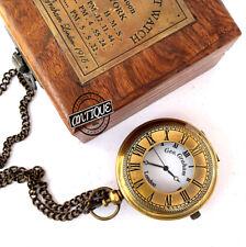 Reloj de Bolsillo Collar Colgante Steampunk Con Madera Caja Harry Potter Orzuelo