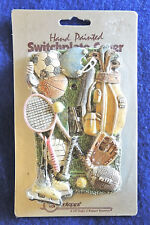 Switch Plate Cover Sport Equipment Resin Cast Hand Painted Spoontiques Gifts New