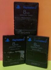 Set of 3 - Official Original Sony PS2 Playstation 2 Memory Cards 8 mb 16 mb Lot