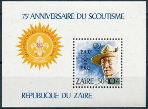 Zaire 1982 MNH MS, Baden Powell, Scout