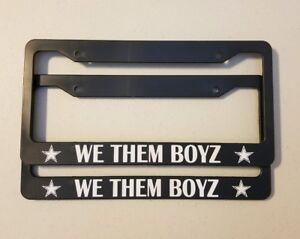 Dallas Cowboys we them boys license plate frames DEM BOYZ car truck nfl