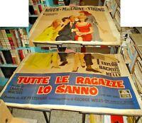 Tutte Le Ragazze Lo They Know Manifesto 4F Original - 1957 Niven Mlaine Young